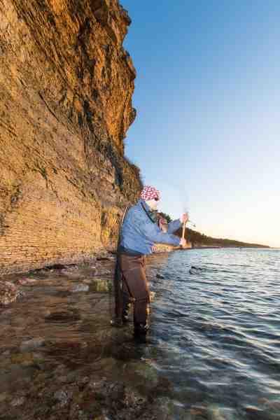 Pladsvariationen på Gotland er enorm. Her finder du alt fra klippekyst til sandstrand eller i klintekyster som her.