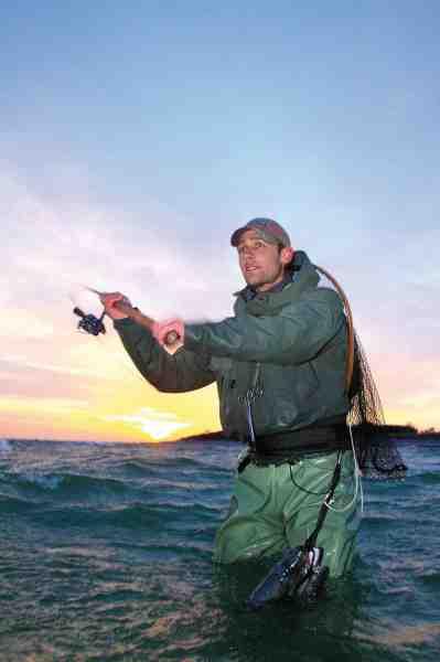 David opsøger så vidt muligt altid oprørt eller farvet vand, da havørrederne ofte er lettere at få i tale her.