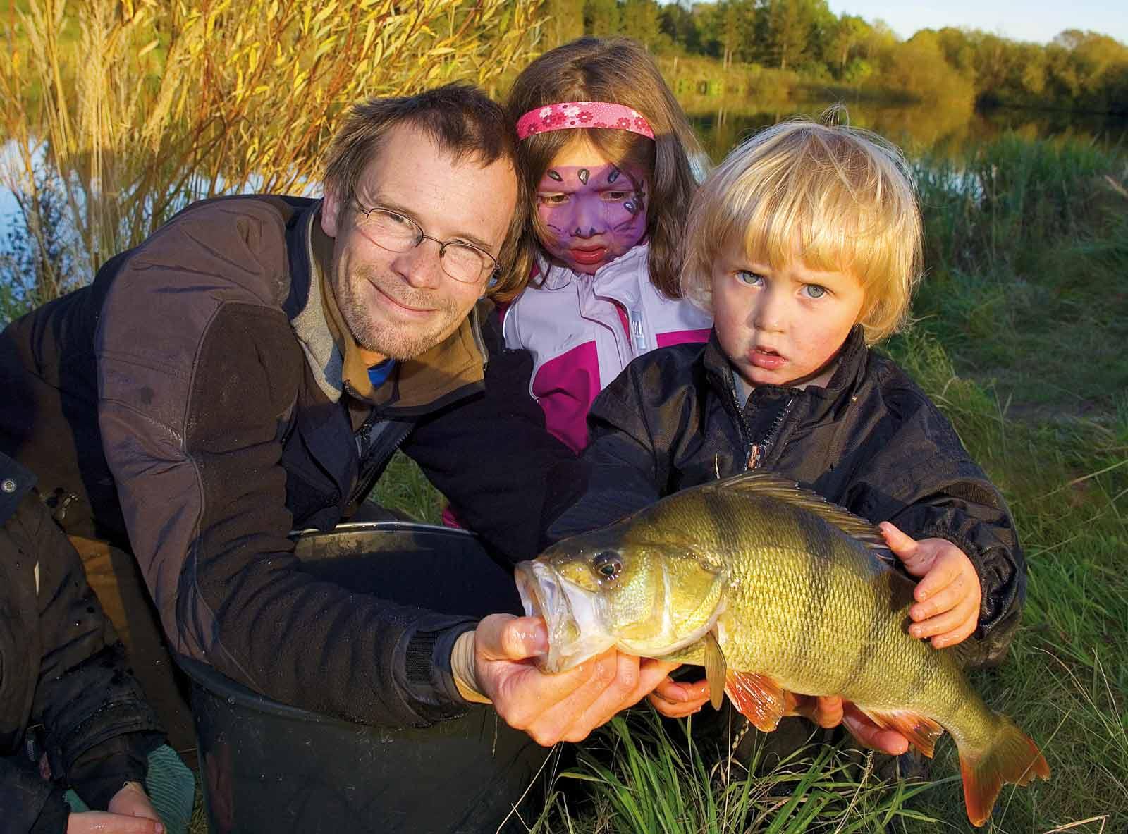 Aborrefiskeri med børnene