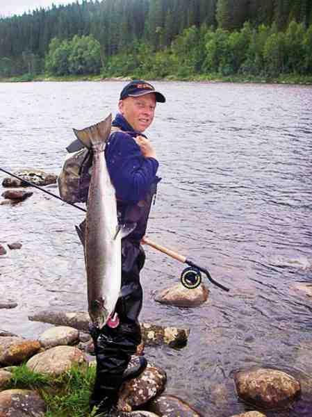 Sølvblank laks, en af sæsonens mange fisk fra Singsås.