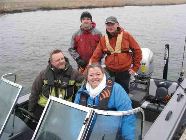 Tidligere fødevareminister Mette Gjerskov var så interesseret i de nye initiativer omkring Odense Fjord, at hun var en tur på vandet i Thomas Hansen båd for at få syn for sagen.