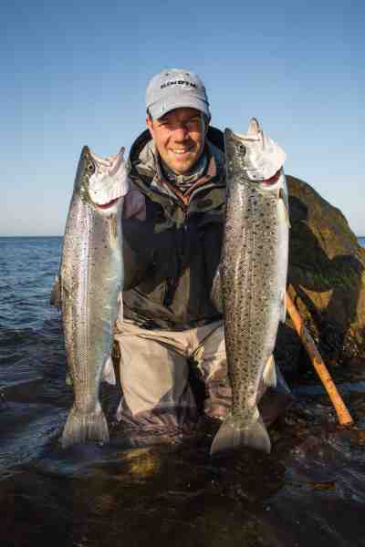 Peter Kirkby med fine fangster fra revet – en rigtig god start på morgenen.