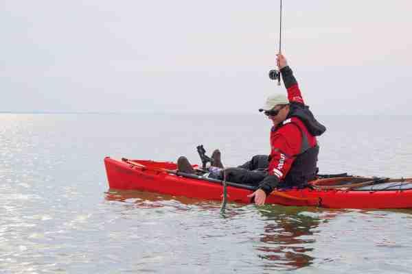Rønnest Kajakken er utrolig stabil, hvilket er en stor fordel, når fisken skal landes.