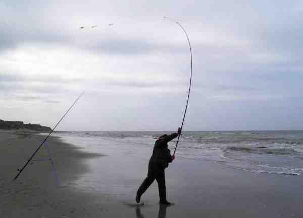 Med de lange stænger og tunge lodder kan de fleste lære at kaste over 100 meter på kort tid.
