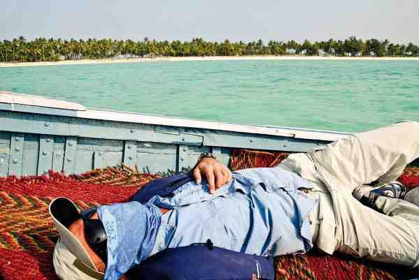 Popperfiskeri er hårdt arbejde, så det kan være hårdt tiltrængt med en slapper en gang imellem...