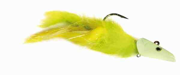 De lange tunge Sandeel jighoveder fra Savage Gear trækker lynhurtigt jiggen ned til bunden og er perfekte til at binde torskejigs på. Zonkermaterialet fylder godt i vandet og er et oplagt materialevalg. Denne er bundet i hidsige farver på selvlysende hoved, til dage med lavere sigtbarhed.