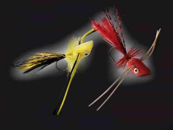 Trout Popper fra Unique flies er en højtflydende skumflue med gummiben, der fungerer godt til nattefiskeriet. Fiskene smækker ofte til den straks efter den er landet, og har gjort opmærksom på sin tilstedeværelse med et plask.