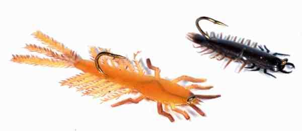 Lexa Nymferne blev ligesom Lexa Rejerne produceret af Axel Karlshøj fra Sorø. De var enormt populære dengang, hvor man ikke havde skrubler over at fluefiske med gummidyr.