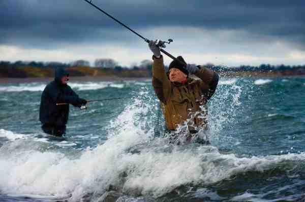De fleste pladser på Sjællands Odde fisker rigtig godt når der er bevægelse i vandet, men de tåler dog ikke for hård nordvesten vind