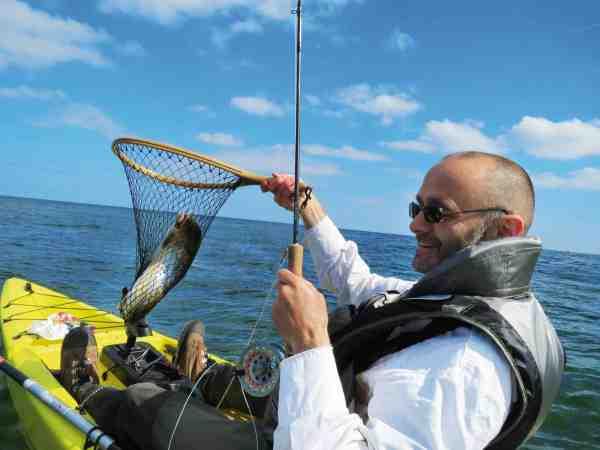 Men kajakken får man muligheden for at nå mange fine fiskepladser, der er umulige at nå fra land.