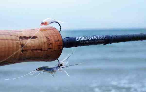 Med to fluer på forfanget er der større chance for, at du rammer rigtigt, når fiskene er kræsne.