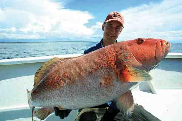 Både Mads og Thomas fangede coral trouts i en størrelse, som har fået det internationale jigging-miljø til at spærre øjnene op. Vores nyopdagede rev husede beboere i verdensrekordstørrelse
