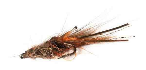 En lille brun rejeflue kan være rigtig effektiv til brakvandsaborrerne i den kolde tid.