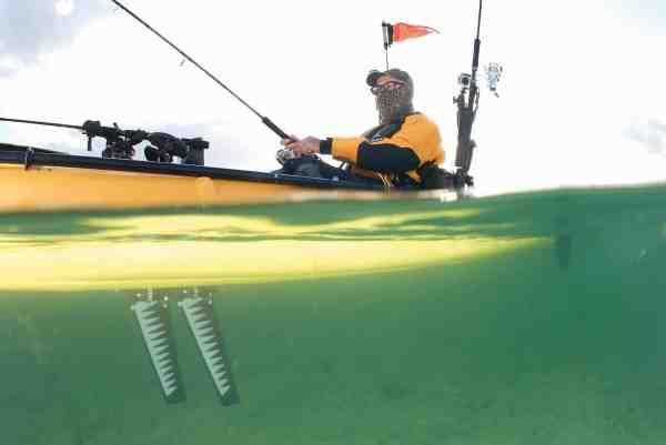 Mirage-drevets standardfinner er tydeligt inspireret af pingvinernes luffer, men her benyttes turbo-udgaven, som har en lidt anden form. På trods af finnernes beskedne størrelse giver de kajakken en overraskende god fart, og man kan uden problemer opnå en marchhastighed på 7 km/t.