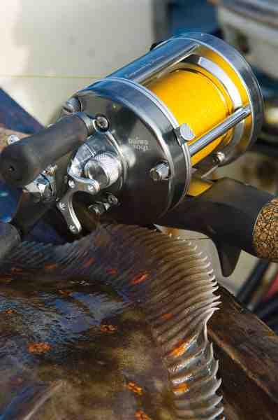 Et mulithjul som fx dette giver god føling under fiskeriet – og gør det let at holde bunden, fordi man blot letter tommelfingeren og lader linen løbe ud med jævne mellemrum.