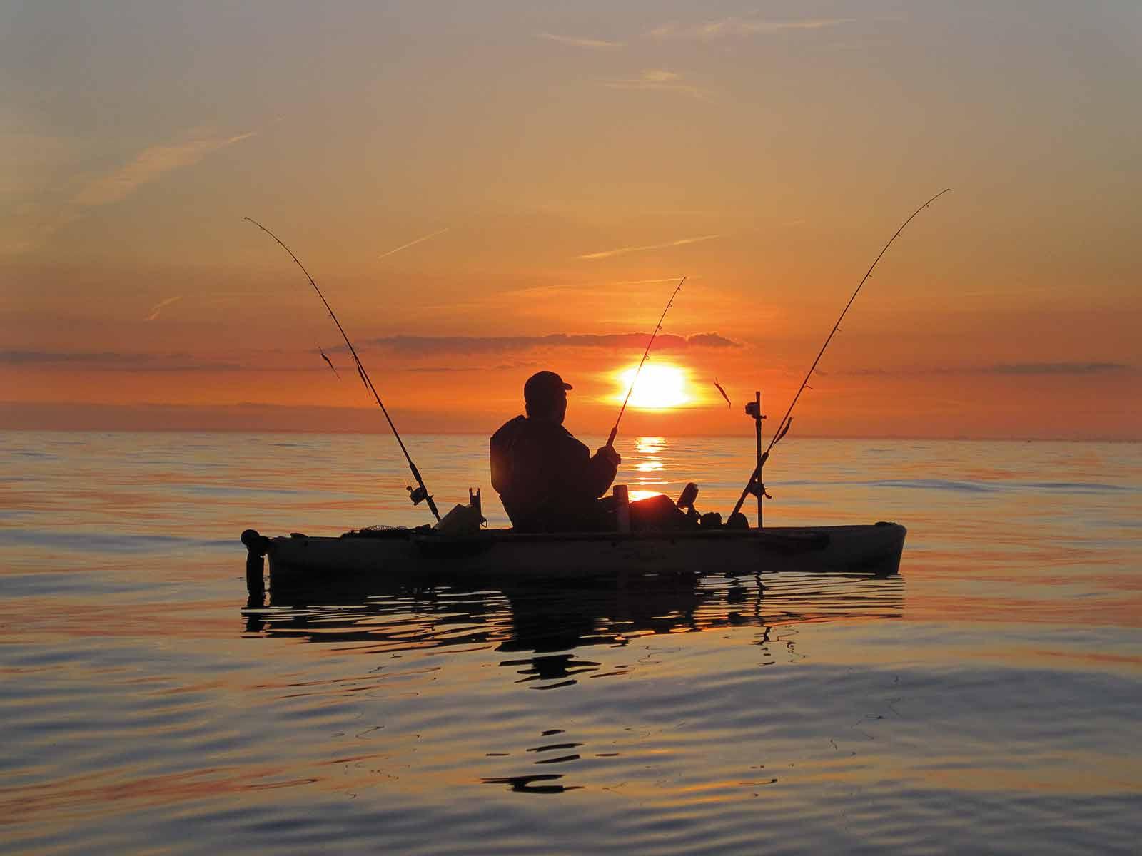 Fiskefrihed fra kajakken