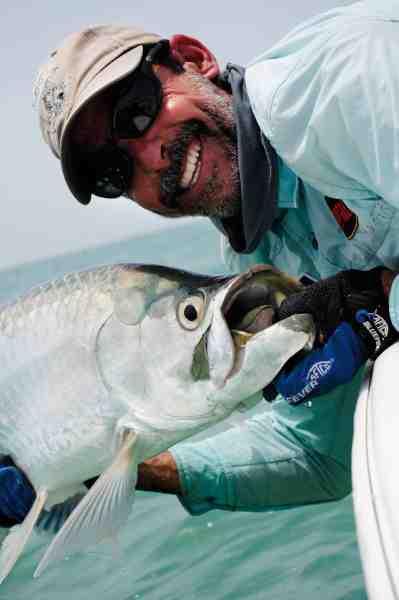 Guiderne på Santa Maria er selv passionerede fiskere.