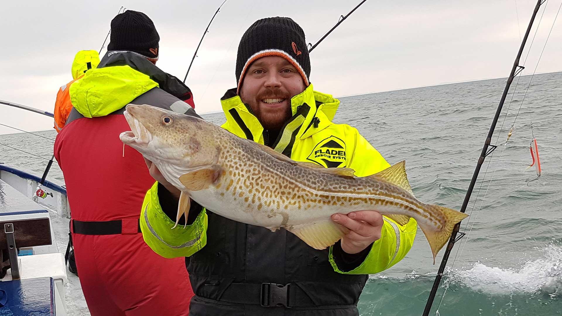 Jakob Brun med torsk på 3,58 kilo.