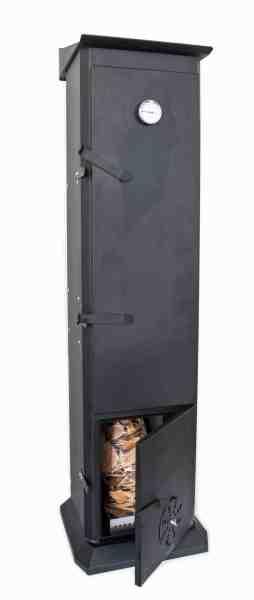 Den 1,6 meter høje ovn er perfekt til både koldrøgning og varmrøgning.