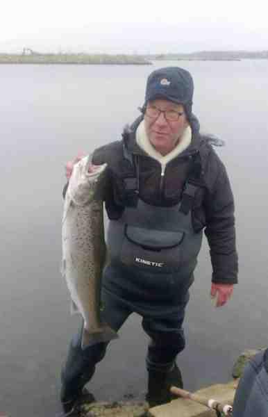 Hans med sin flotte fisk fra Lammefjorden.