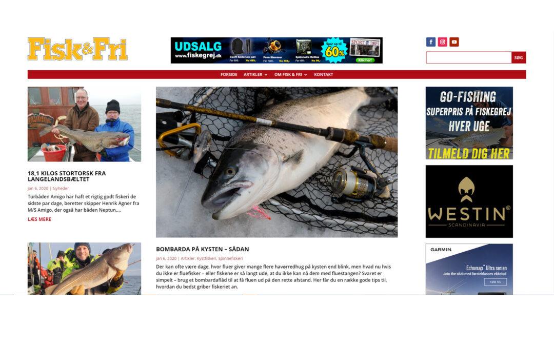 Fisk og Fri ny hjemmeside