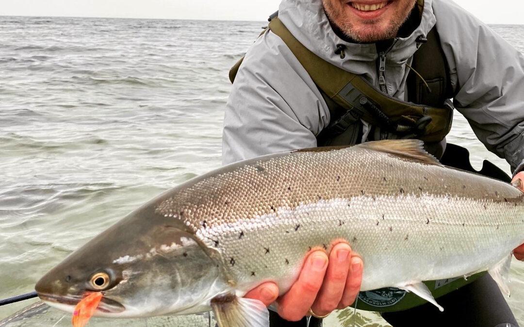 74 cm blankfisk – det spiller på Østfyn