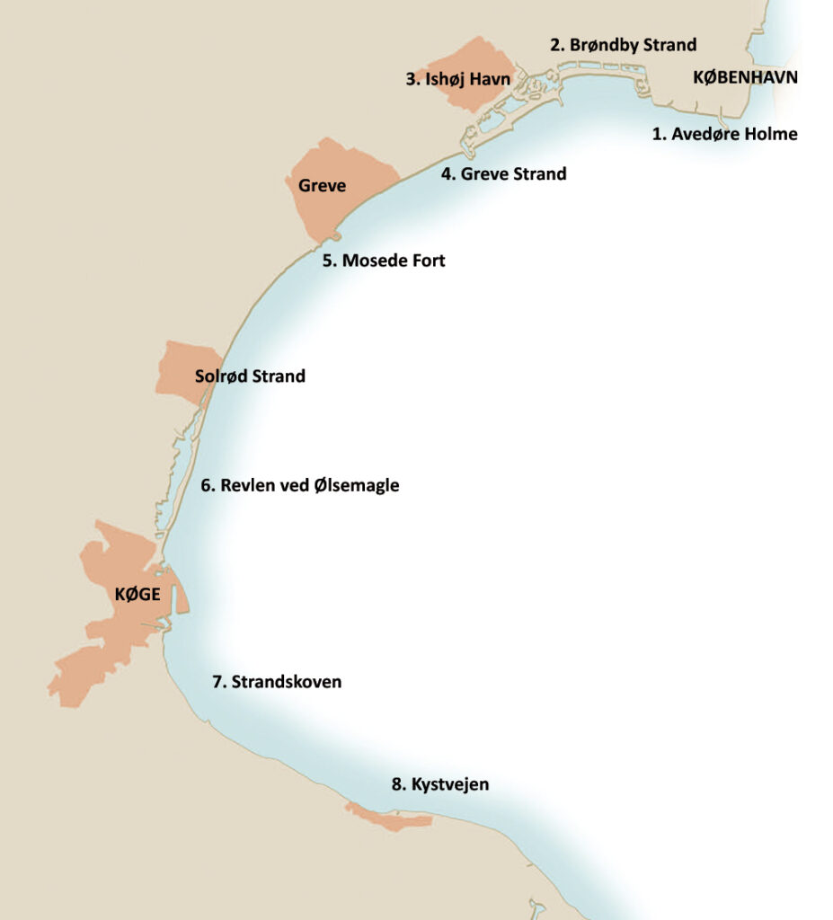 Køge Bugt - kort over havørredpladser