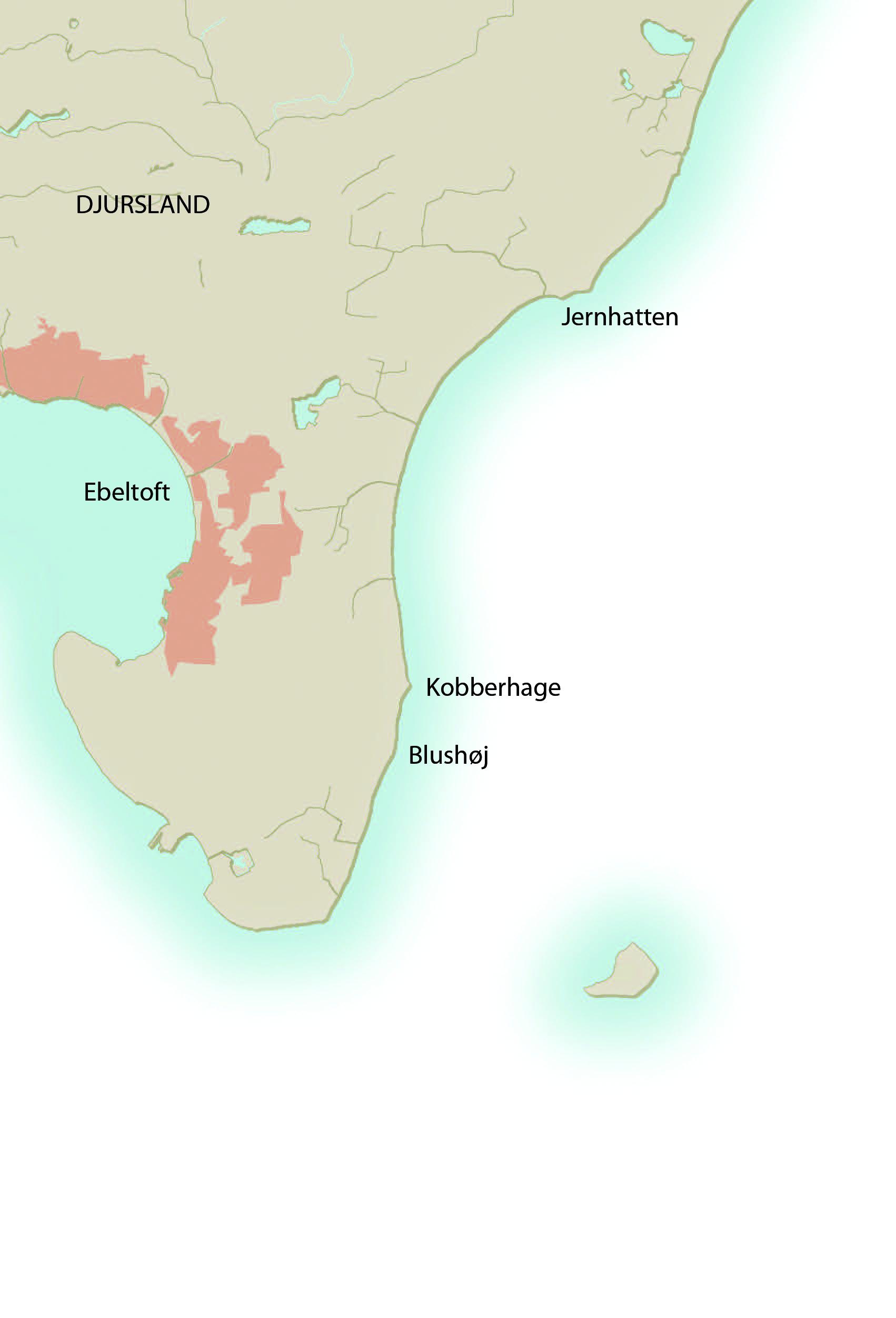 Havørredpladser på det østlige Djursland