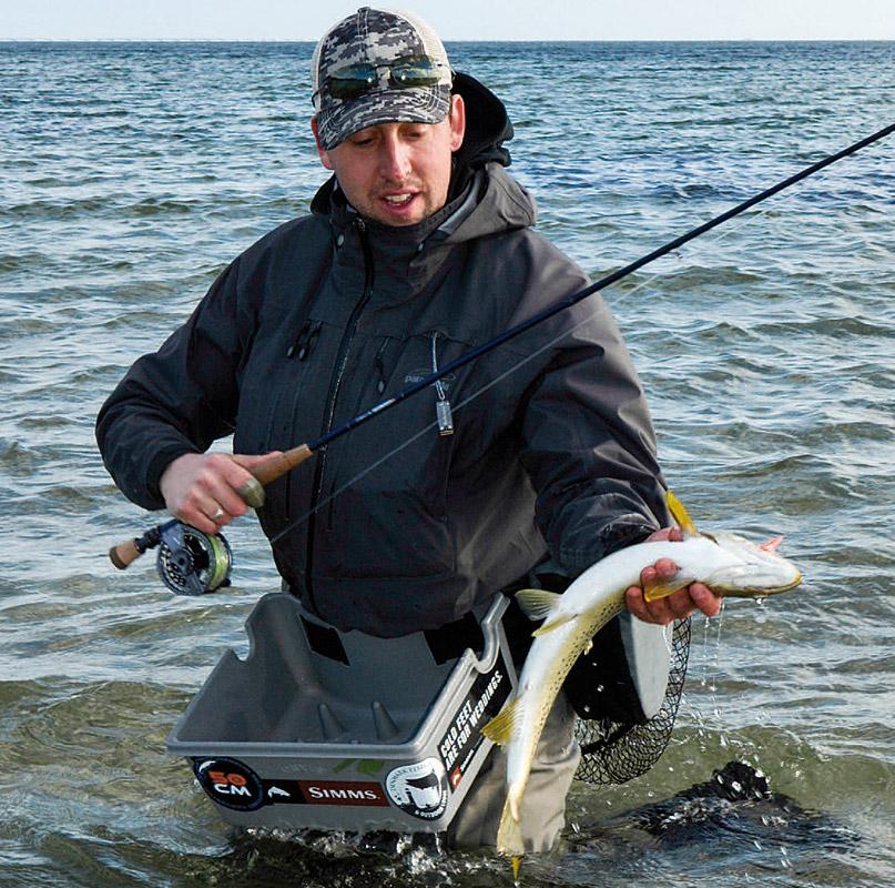 Jesper Lindquist ANdersen med en fin fisk fra Torø Huse.