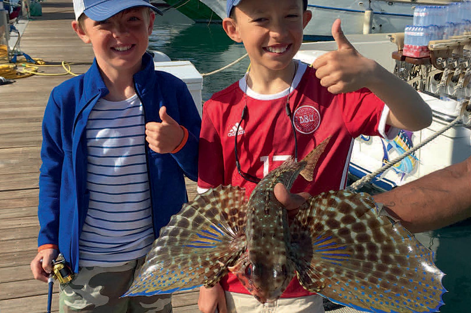 Chrisitan er altid med på at fange nogle sjove fisk på det lette grej.