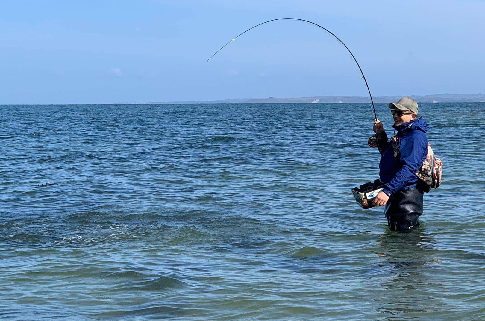 Maciek Popielski med fisk på