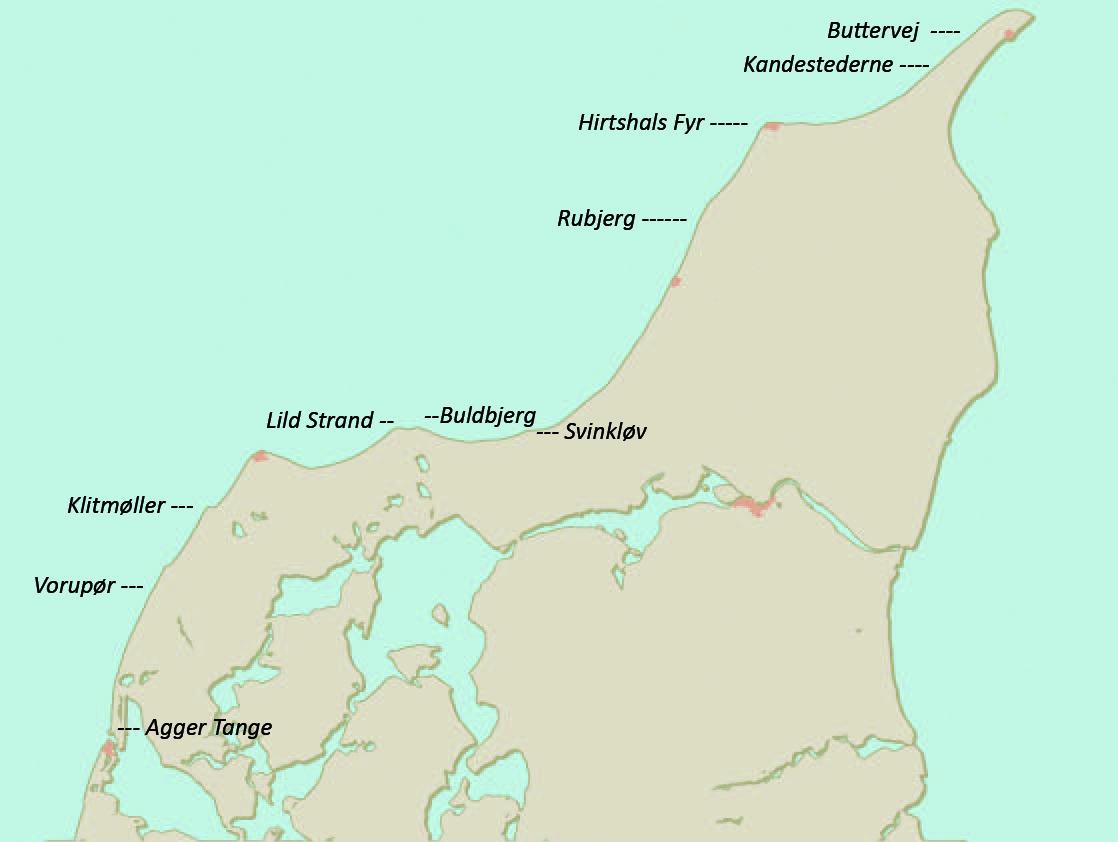 Havbarspladser på Nordvestkysten