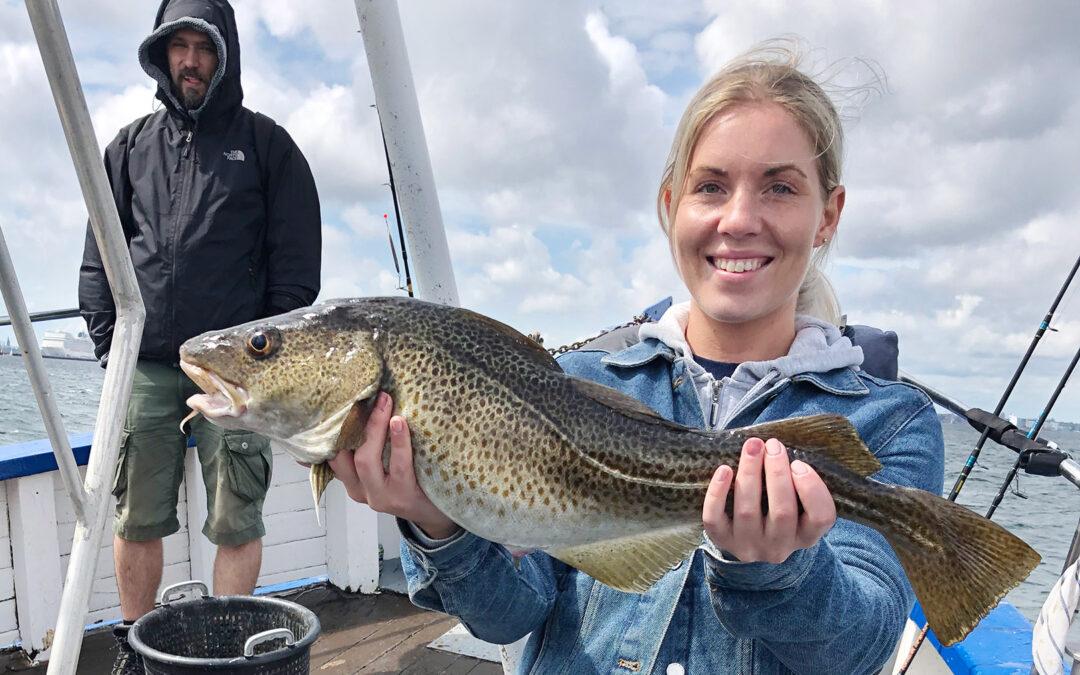 Sommerturene efter blandt andet torsk fra Fyrholm og Sværd er altid hyggelige