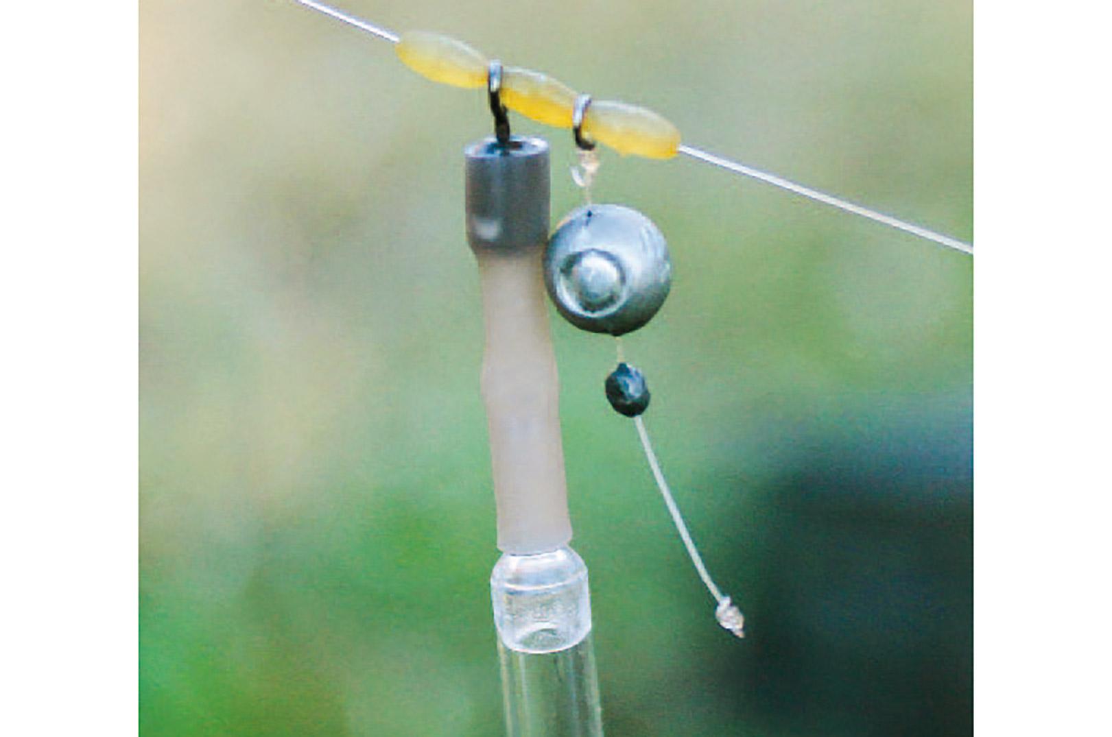 Flådrigget med splithaglet er monteret på et separat stykke line, for ikke at skade hovedlinen.