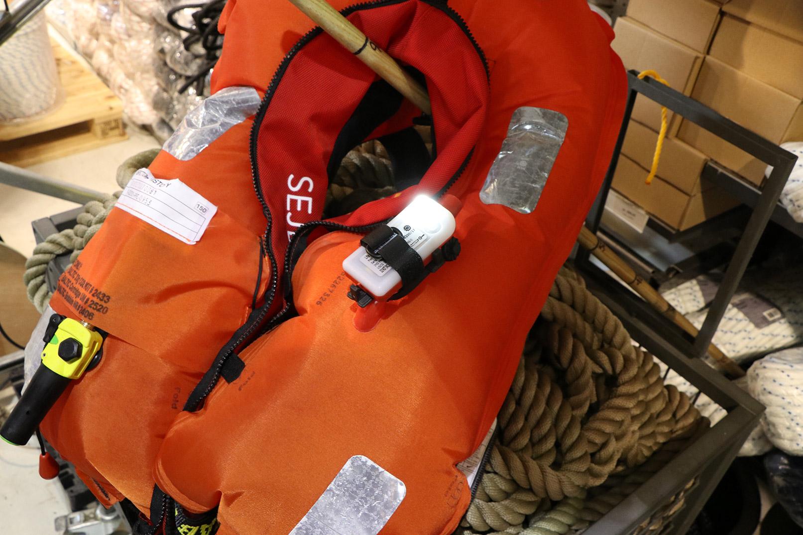 Lys til redningsvest