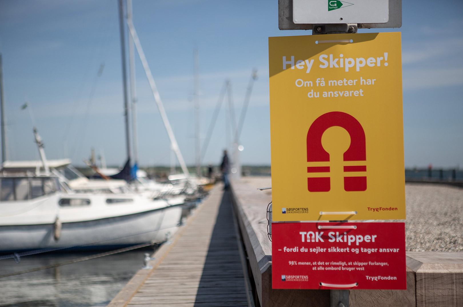Tag skipperansvar og brug redningsvest er blot to af budskaberne i SejlSikkert kampagnen 2020.