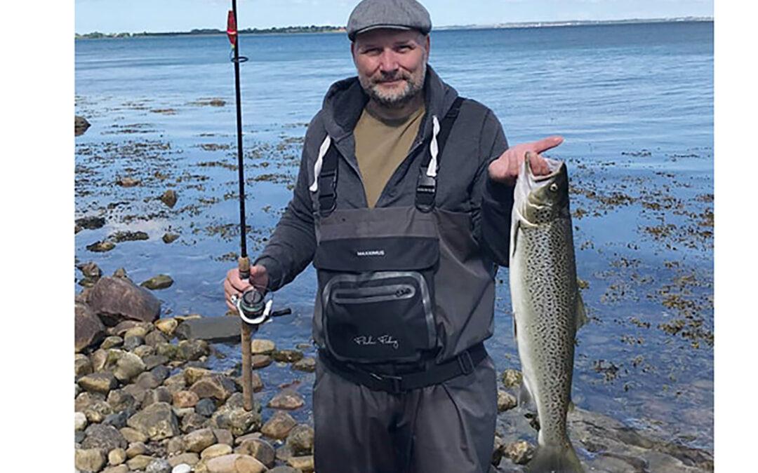 Michael Langholtz med sin flotte sønderjyske havørred
