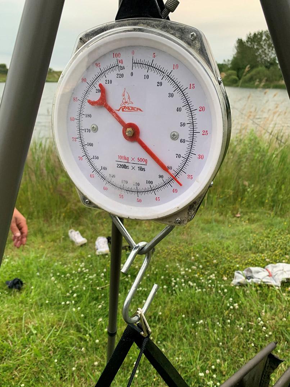 Den potentielle DK-rekord malle bleve vejet til 37,5 kilo inklusiv vejeslygen, der blev afvejet til 2,5 kilo.
