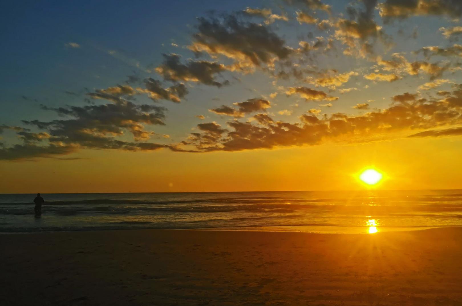 Solopgang på Vestkysten