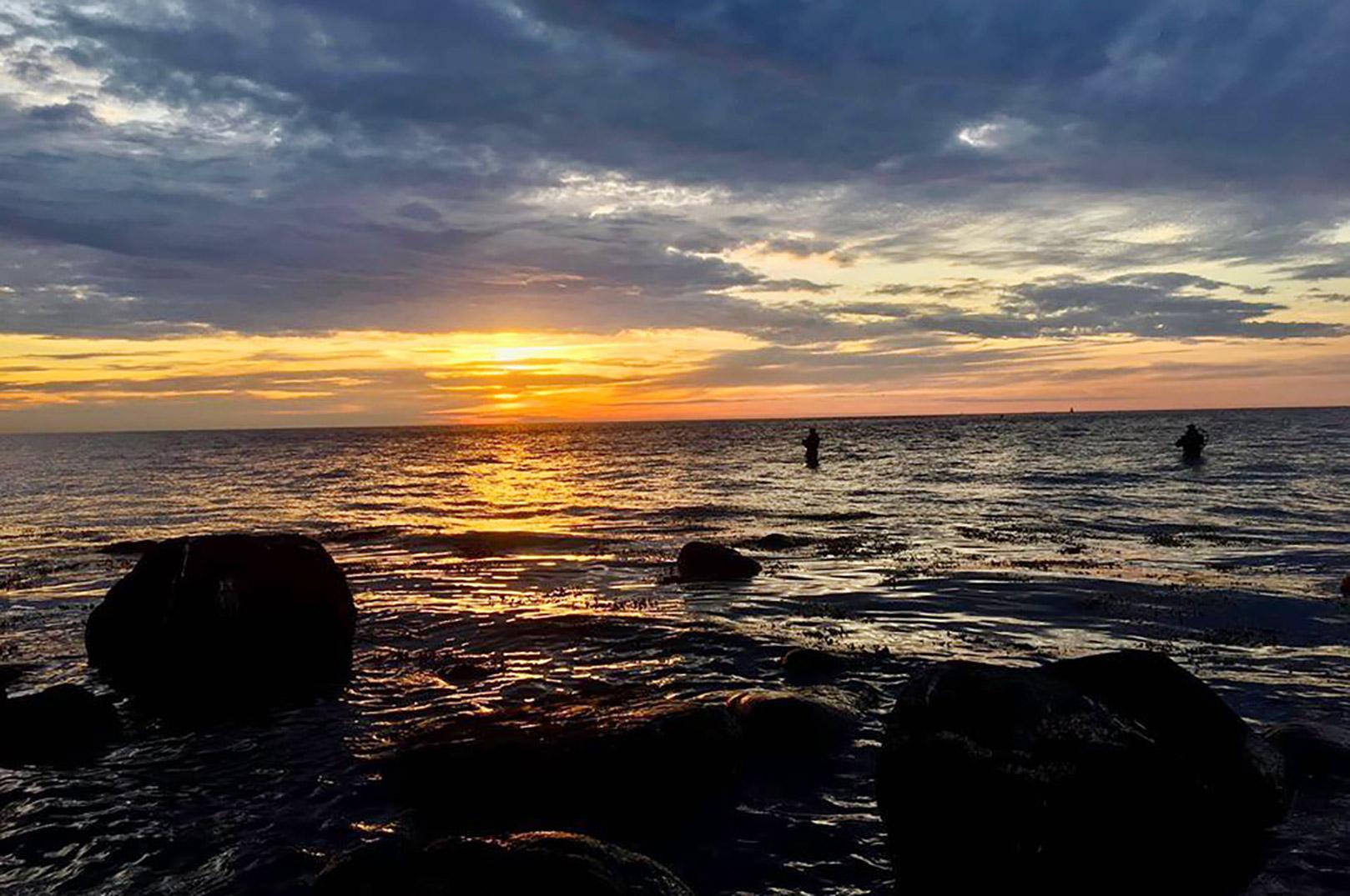 Solnedgang ved Sjællands Odde