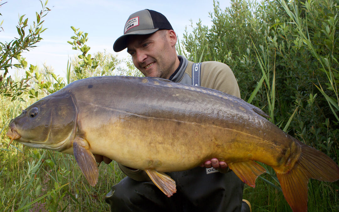 Michael Olsen med sin fine 11,8 kilos spejlkarpe