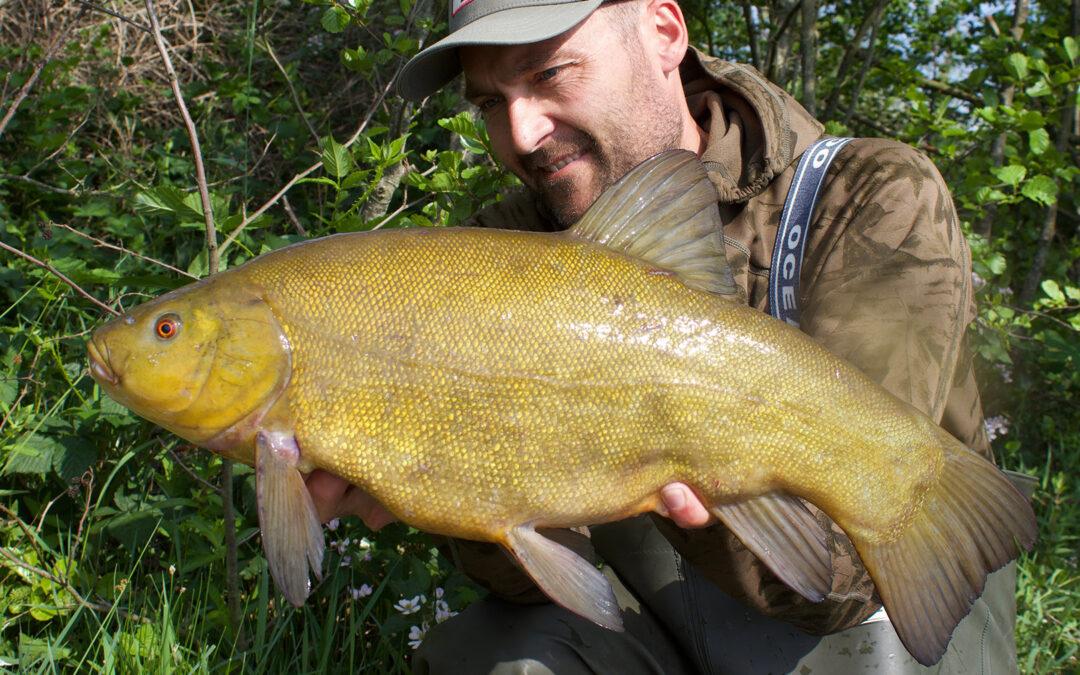 Martin Olsen med sin flotte suder på et godt stykke over de tre kilo