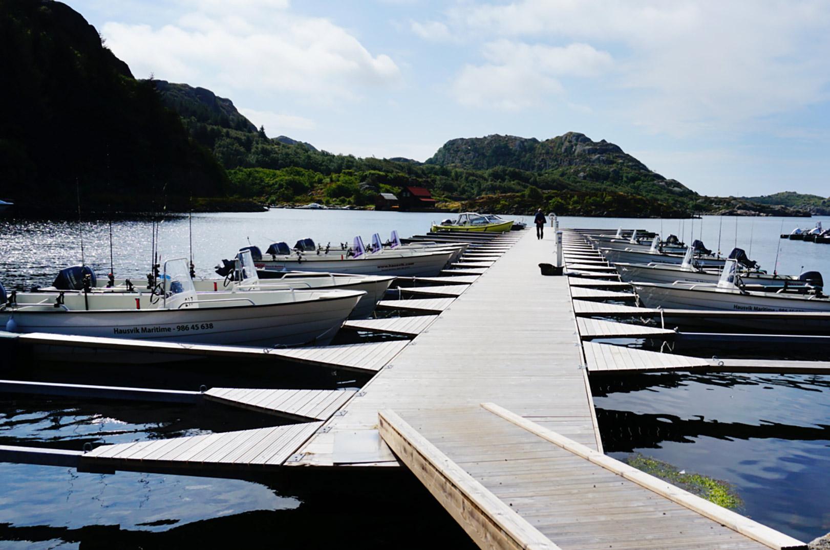 Hausvik Maritime Feriesenter har en masse lækre både du kan fiske fra.