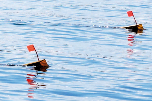 Disse Off shore tackle OR 12 sideplanere udelukker gætterier; er der fisk på, så ser du det!