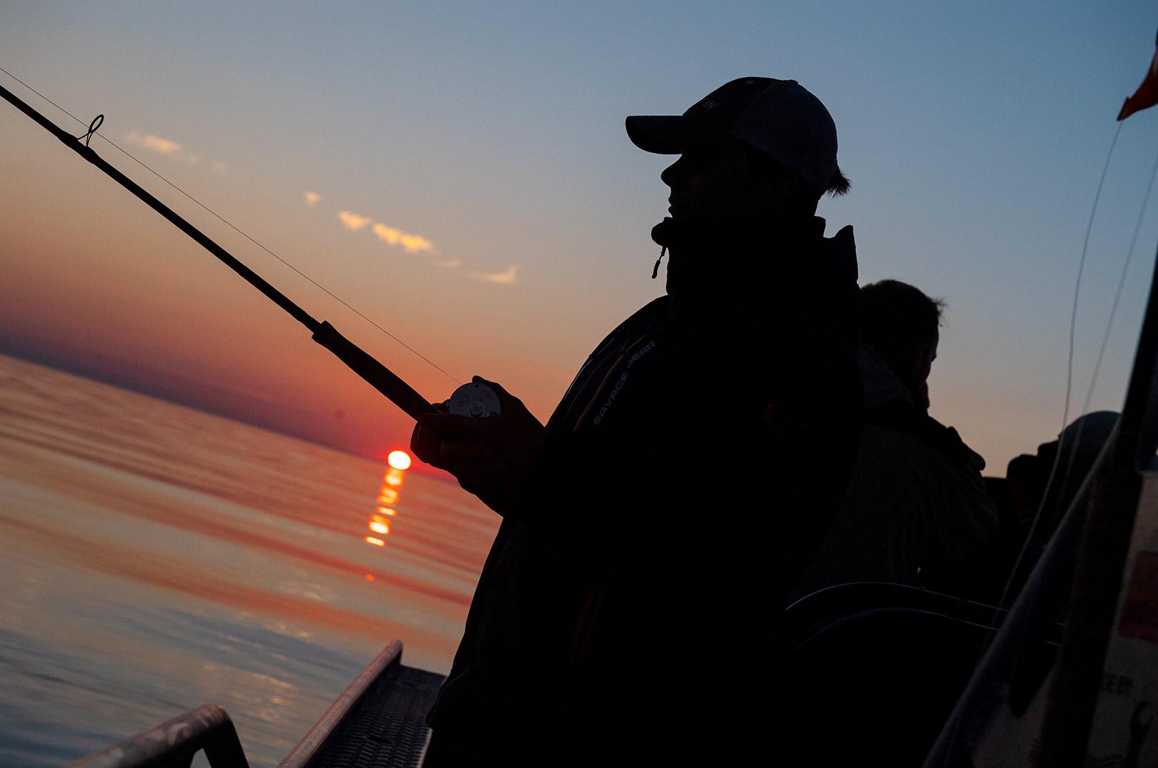 Klar til dagens fiskeri med Fishingbeyond ombord på det gode skib Sally.