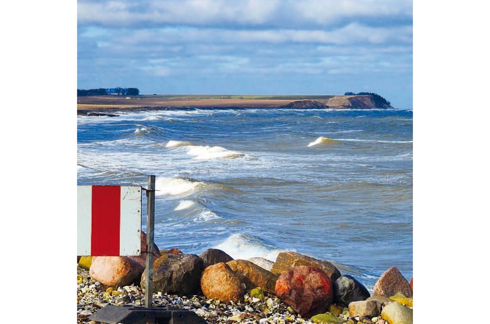 Stopsignal ved Gjerrild Strand