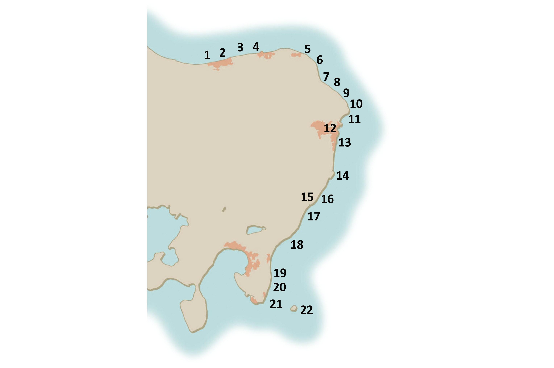 Her kan du se de 22 hotteste havørredpladser på Djursland.