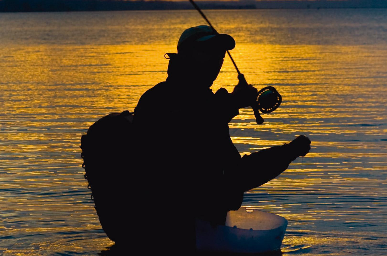 Fisk & Fris Tue Blaxekjær giver den gas i et lille badekar ved Falster.