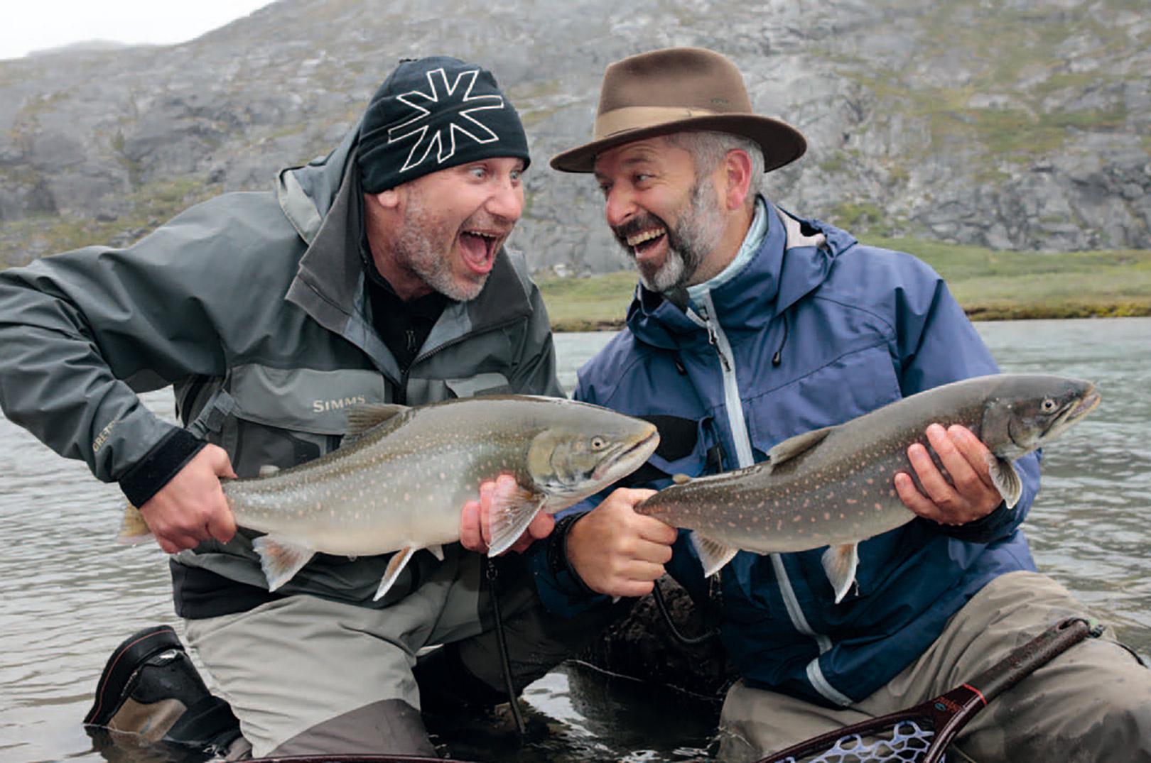 På fisketur med gutterne når det er bedst: Alle fanger fisk!