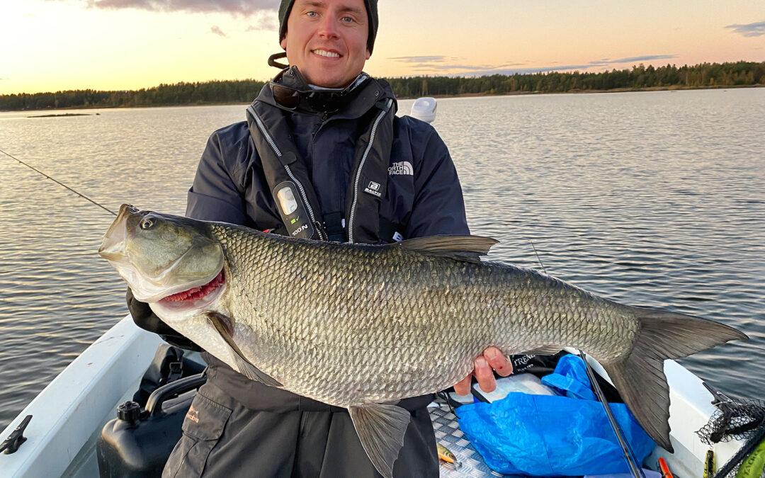Rasmus Skaaning med en flot asp på over fem kilo